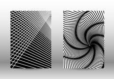 套与被变形的线的抽象样式 图库摄影