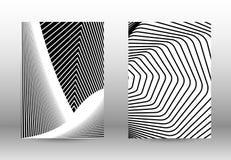 套与被变形的线的抽象样式 库存图片