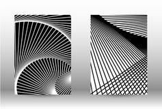 套与被变形的线的抽象样式 向量例证