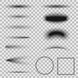 套与被隔绝的软的边缘的透明卵形灰色阴影 艺术与另外轻的照明的设计作用渔 皇族释放例证