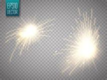 套与被隔绝的火花或闪烁发光物的金属焊接 库存图片