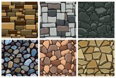 套与装饰石头的无缝的样式 库存图片