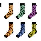 套与豹子样式的袜子 库存照片