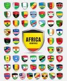 套与非洲骗局的国家的旗子的板料 免版税库存图片