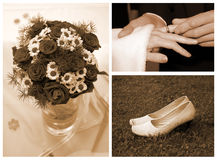 婚姻的集合 库存图片