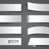 套与阴影的白纸横幅 免版税库存照片