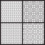 黑白无缝的样式 免版税库存照片