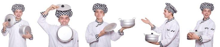 套与滑稽的厨师的照片 库存图片