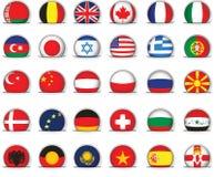 套世界旗子 库存例证