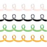 套丝带框架 白色,黑,绿色和橙色 皇族释放例证