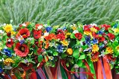 套乌克兰传统花圈 库存图片