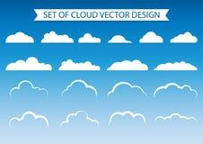 套云彩传染媒介设计 库存照片