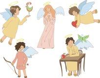 套五个逗人喜爱的天使 库存图片