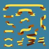 套五颜六色的丝带和标签 库存图片