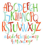 套五颜六色的传染媒介字母表 向量例证