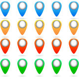 套五颜六色的别针传染媒介 免版税库存照片