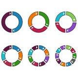 套五颜六色的圈子 免版税库存图片