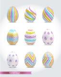 套五颜六色的复活节彩蛋 库存图片