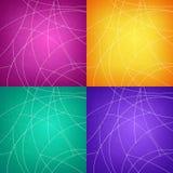 套五颜六色的抽象几何背景 库存照片