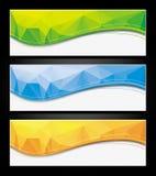 套五颜六色的抽象横幅 免版税库存图片