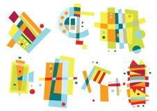 套五颜六色的抽象要素 免版税图库摄影