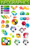套五颜六色的纸infographic设计元素 免版税库存照片