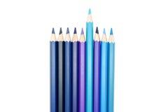 套五颜六色的色的铅笔 免版税图库摄影