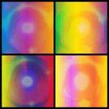 套五颜六色的被加点的背景传染媒介 免版税库存照片