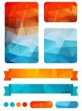 套五颜六色的设计元素 免版税库存照片