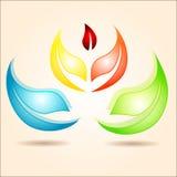 套五颜六色的设计 免版税库存图片