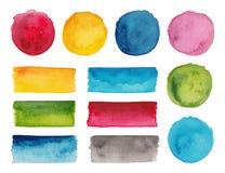 套五颜六色的调色板 库存照片