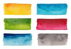 套五颜六色的调色板 免版税图库摄影