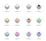 套五颜六色的针 免版税库存照片