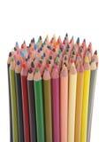 套五颜六色的铅笔 库存图片