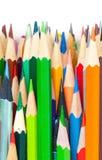 套五颜六色的铅笔 免版税库存照片