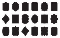 套产品标签模板 不同的形状 向量例证