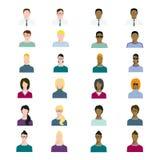 套人具体化行业,专业人的职业,基本的字符设置了,在平的样式的雇员品种 库存图片