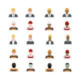 套人具体化行业,专业人的职业,基本的字符设置了,在平的样式的雇员品种 免版税库存照片