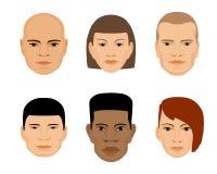 套人面另外性别和种族 库存照片