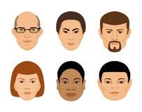 套人面另外年龄和种族 免版税库存图片