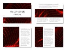 套介绍幻灯片的企业模板 五颜六色的设计有波浪摘要美好的背景 也corel凹道例证向量 向量例证