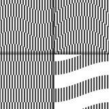 套从黑白条纹和形状的几何样式 库存照片
