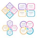 套企业信息图表 免版税库存照片