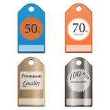 套企业徽章和标签 10 eps 免版税库存照片