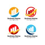 套企业财务商标设计模板 向量例证