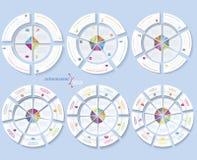 套企业项目或介绍的现代模板 免版税库存图片