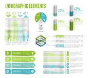 套企业infographic元素 介绍的,图,图表模板 免版税库存图片
