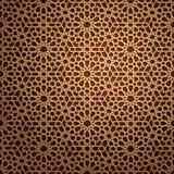 套伊斯兰教的东方样式,无缝的阿拉伯几何装饰品收藏 传染媒介传统回教背景 库存例证