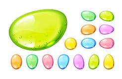 套传染媒介五颜六色的糖果在白色背景下降 库存照片