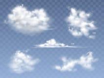 套传染媒介现实云彩 库存例证